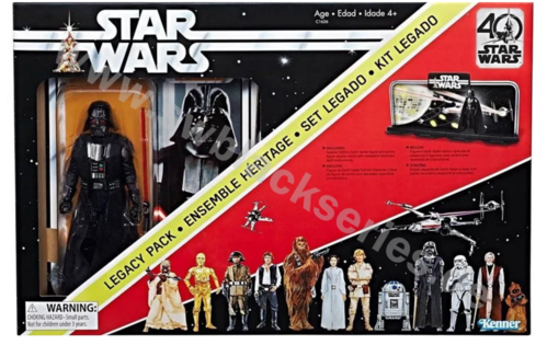 "BLACK SERIES 40th ANNIVERSARY 6"" LEGACY PACK"