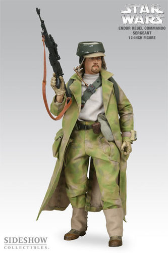 SIDESHOW ENDOR REBEL COMMANDO SERGEANT / SIDESHOW EXCLUSIVE / SIXTH SCALE