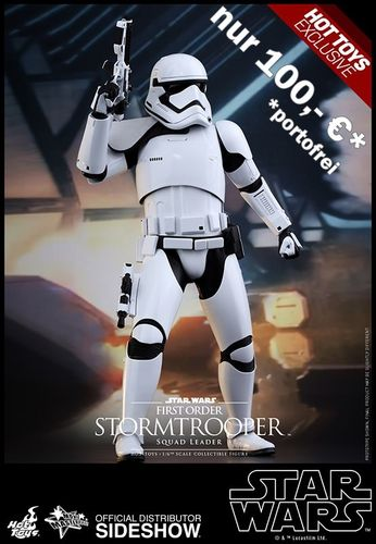 HOT TOYS FIRST ORDER STORMTROOPER SQUAD LEADER / SIXTH SCALE / EXCLUSIVE