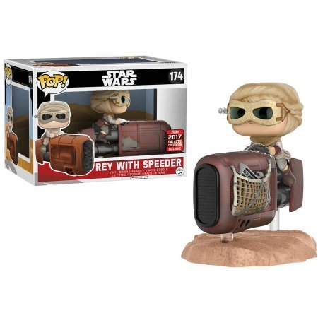 FUNKO POP! REY WITH SPEEDER / CELEBRATION EXCLUSIVE