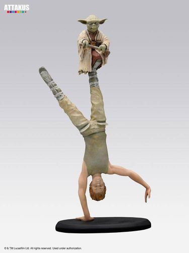 ATTAKUS STAR WARS ELITE COLLECTION YODA & LUKE JEDI TRAINING / 22 CM