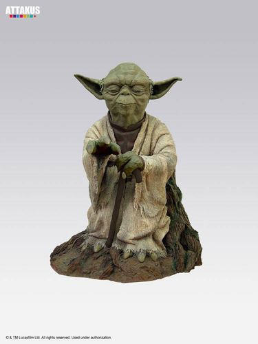 ATTAKUS STAR WARS ELITE COLLECTION YODA ON DAGOBAH / 23 CM