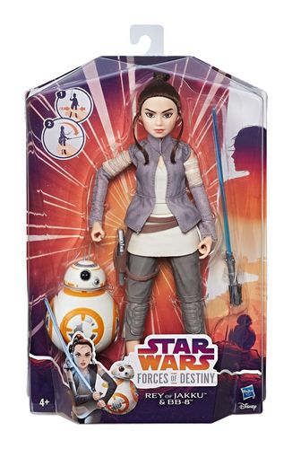 STAR WARS FORCES OF DESTINY - FIGURES AND FRIENDS  REY + BB-8