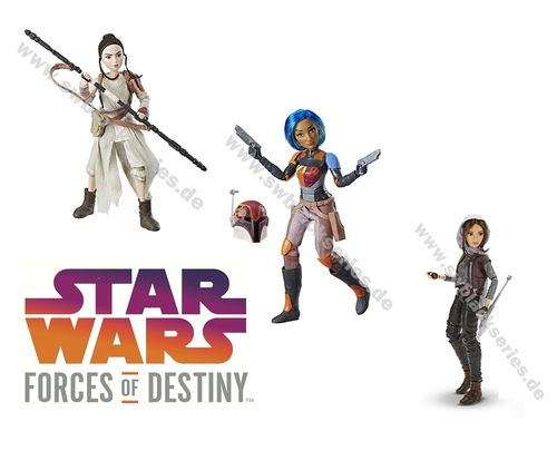 STAR WARS FORCES OF DESTINY / WAVE 1 COMPLETE
