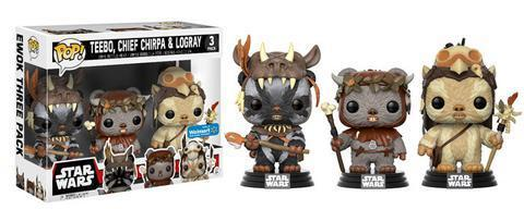 FUNKO POP ! STAR WARS EWOKS 3-PACK / WALMART EXCLUSIVE / VORBESTELLUNG