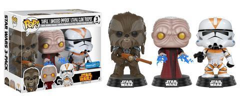 FUNKO POP ! STAR WARS REVENGE OF THE SITH 3-PACK / WALMART EXCLUSIVE