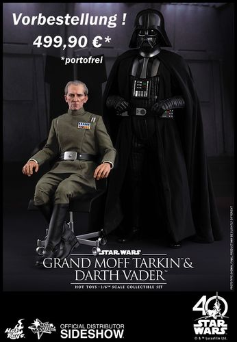 HOT TOYS STAR WARS GRAND MOFF TARKIN & DARTH VADER 2-PACK / SIXTH SCALE
