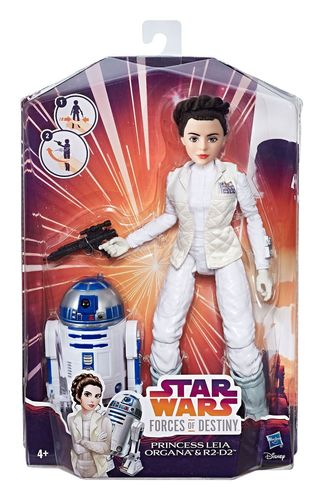 STAR WARS FORCES OF DESTINY - FIGURES AND FRIENDS  LEIA + R2-D2 11""