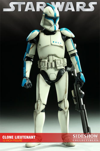 SIDESHOW STAR WARS REPUBLIC CLONE LIEUTENANT (PHASE 1 ARMOR) / SIXTH SCALE