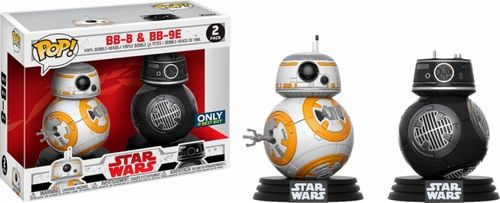 FUNKO POP STAR WARS THE LAST JEDI BB-8 + BB-9E 2-PACK / BEST BUY EXCLUSIVE