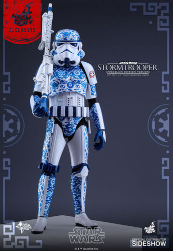 HOT TOYS STAR WARS STORMTROOPER (PORCELAIN PATTERN) / SIXTH SCALE