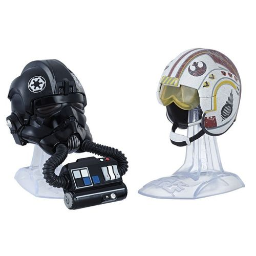 TITANIUM HELME LUKE SKYWALKER + TIE FIGHTER PILOT / GAMESTOP USA EXCLUSIVE