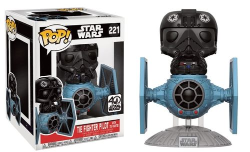 FUNKO POP STAR WARS TIE FIGHTER PILOT WITH TIE FIGHTER #221