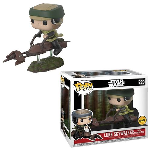 FUNKO POP STAR WARS LUKE SKYWALKER WITH SPEEDER BIKE #229 / CHASE