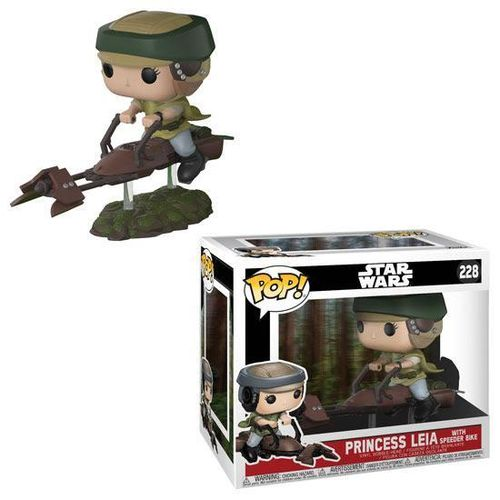 FUNKO POP STAR WARS PRINCESS LEIA WITH SPEEDER BIKE #228