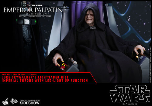 HOT TOYS STAR WARS EMPEROR PALPATINE DELUXE MIT LED-THRON / SIXTH SCALE
