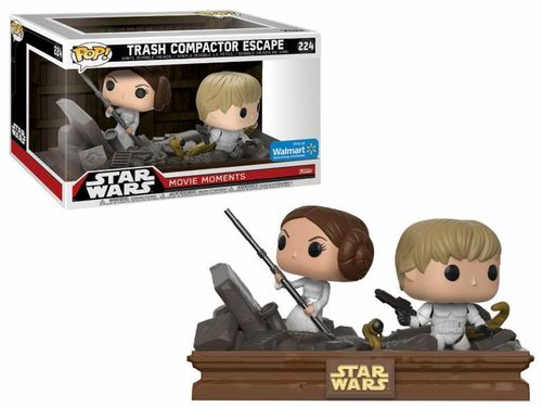 FUNKO POP STAR WARS MOVIE MOMENTS - TRASH COMPACTOR ESCAPE #224 / WALMART EXCLUSIVE