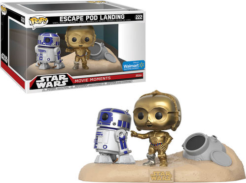 FUNKO POP STAR WARS MOVIE MOMENTS - ESCAPE POD LANDING #222 / WALMART EXCLUSIVE