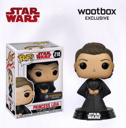 FUNKO POP STAR WARS THE LAST JEDI - PRINCESS LEIA #218 / WOOTBOX EXCLUSIVE