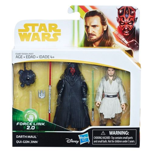 SOLO - A STAR WARS STORY -  DARTH MAUL + QUI-GON JINN 2-PACK / FORCE LINK