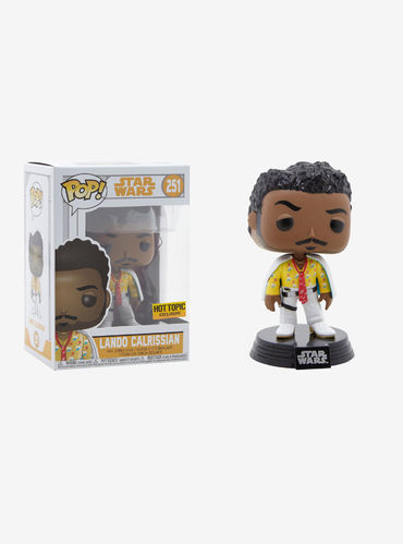 FUNKO POP STAR WARS SOLO - LANDO CALRISSIAN #251 / HOT TOPIC EXCLUSIVE
