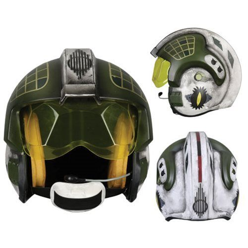 ANOVOS STAR WARS GOLD LEADER REBEL PILOT HELMET / PROP REPLICA 1:1
