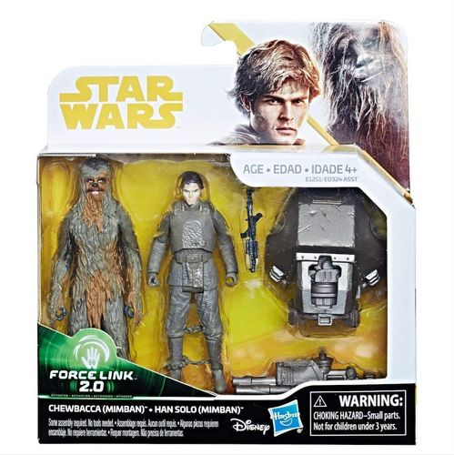 SOLO - A STAR WARS STORY - CHEWBACCA & HAN SOLO (MIMBAN) 2-PACK / FORCE LINK 2.0