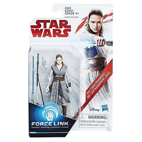 "THE LAST JEDI - REY (JEDI TRAINING) 3,75"" / FORCE LINK"