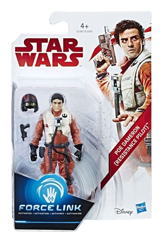 "THE LAST JEDI - POE DAMERON (RESISTANCE PILOT) 3,75"" / FORCE LINK"