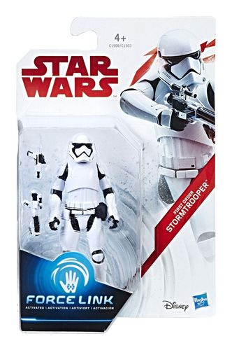"THE LAST JEDI - FIRST ORDER STORMTROOPER 3,75"" / FORCE LINK"