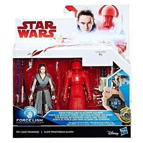 "THE LAST JEDI - REY + ELITE PRAETORIAN GUARD 2-PACK 3,75"" / FORCE LINK"
