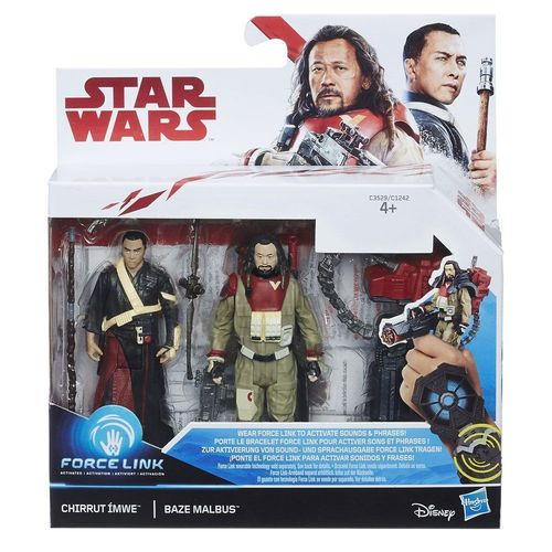 "THE LAST JEDI - CHIRRUT ÌMWE + BAZE MALBUS 2-PACK 3,75"" / FORCE LINK"