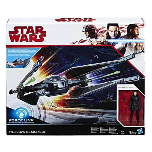 "THE LAST JEDI - KYLO REN'S TIE SILENCER + KYLO REN 3,75"" / FORCE LINK"