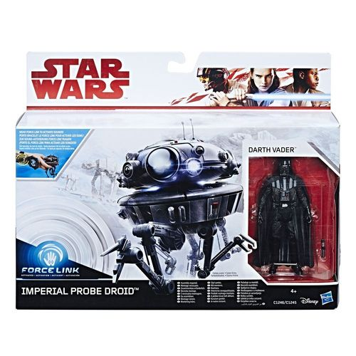 "THE LAST JEDI - IMPERIAL PROBE DROID + DARTH VADER 3,75"" / FORCE LINK"