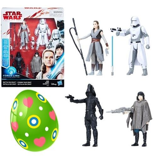 "THE LAST JEDI - BATTLE ON CRAIT 4-PACK 3,75"" / FORCE LINK"