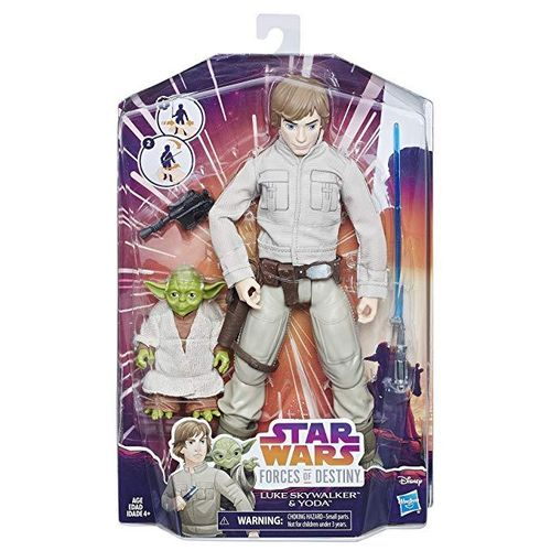 STAR WARS FORCES OF DESTINY - FIGURES AND FRIENDS LUKE + YODA 11""
