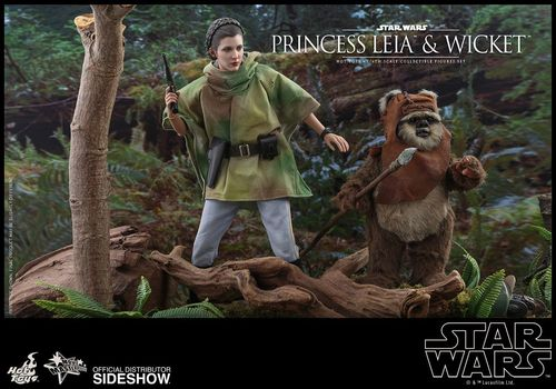 HOT TOYS STAR WARS PRINCESS LEIA & WICKET 2-PACK 1/6  MMS551
