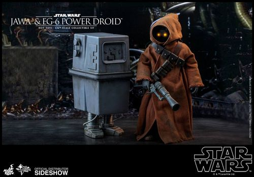 HOT TOYS STAR WARS JAWA + EG-6 POWER DROID 2-PACK 1/6 MMS554