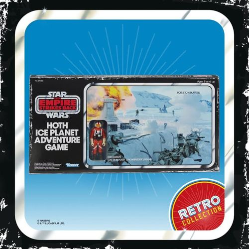 STAR WARS RETRO COLLECTION HOTH ICE PLANET ADVENTURE GAME + LUKE / TARGET EXCLUSIVE