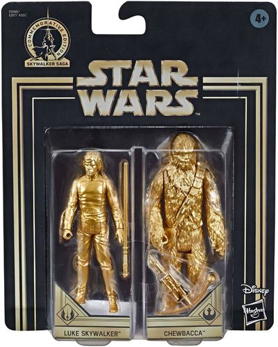 COMMEMORATIVE EDITION GOLD - LUKE + CHEWBACCA (SET 1983)