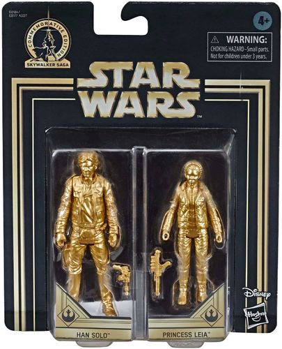 COMMEMORATIVE EDITION GOLD - HAN SOLO + LEIA ORGANA (SET 1980)