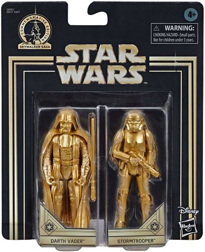 COMMEMORATIVE EDITION GOLD - DARTH VADER + STORMTROOPER (SET 1977)