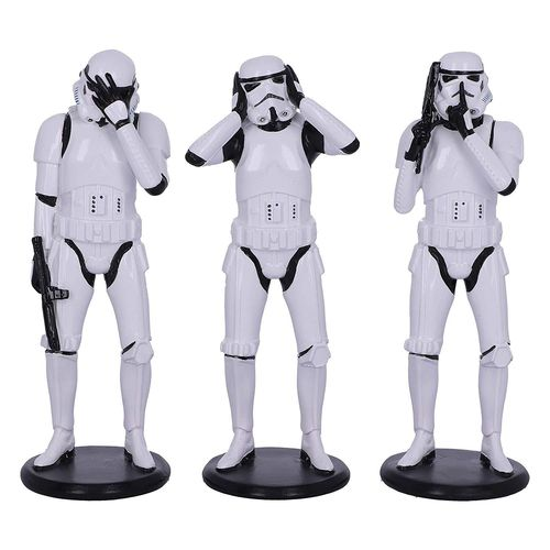 SET OF 3 WISE STORMTROOPERS / 14 CM