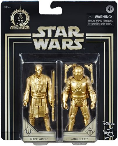 COMMEMORATIVE EDITION GOLD - MACE WINDU + JANGO FETT (SET 2002)