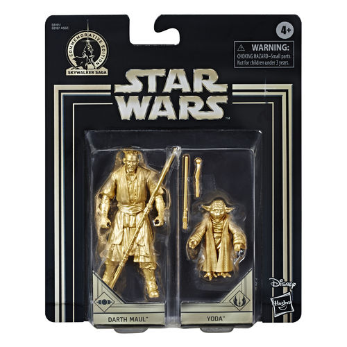 COMMEMORATIVE EDITION GOLD - DARTH MAUL + YODA (SET 1999)