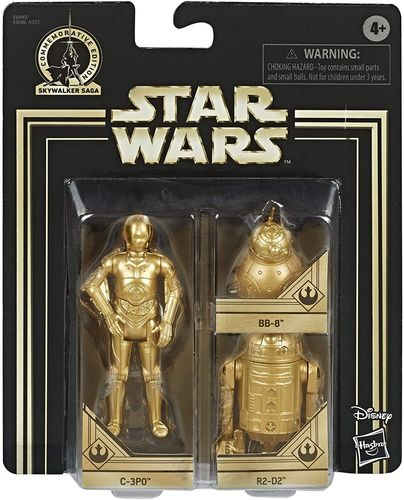 COMMEMORATIVE EDITION GOLD - C-3PO, R2-D2 + BB-8 (SET 2019)