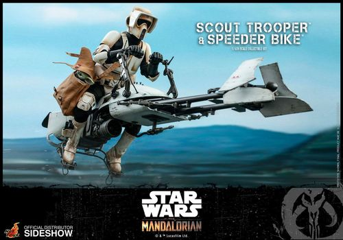 HOT TOYS STAR WARS SCOUT TROOPER + SPEEDER BIKE (THE MANDALORIAN) 1/6  TMS017