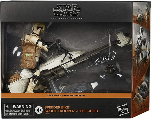 "SPEEDER BIKE + SCOUT TROOPER + THE CHILD (THE MANDALORIAN) 6"" / AMAZON EXCLUSIVE"
