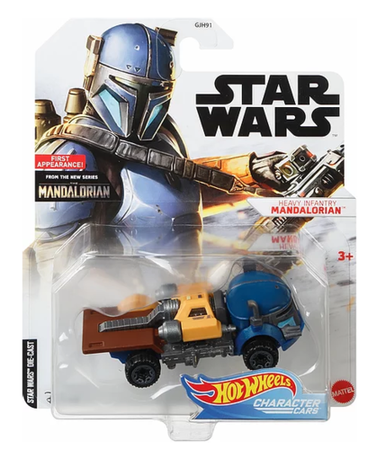 HOT WHEELS CHARACTER CARS - HEAVY INFANTRY MANDALORIAN