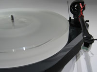 ACRYLIC PLATTER for Turntable Pro-Ject RPM 5 and RPM 4 milky-white 38mm